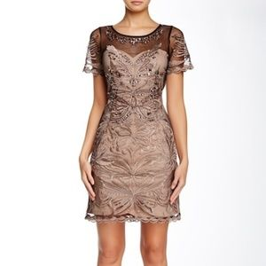 Gracia Mesh Embellished Short Sleeve Dress